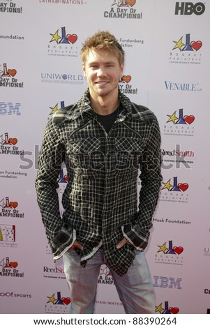 LOS ANGELES, CA - NOVEMBER 06: Chad Michael Murray arrives at A Day Of Champions Benefiting the Bogart Pediatric Cancer Research Program at Sports Museum of Los Angeles on November 6, 2011. - stock photo
