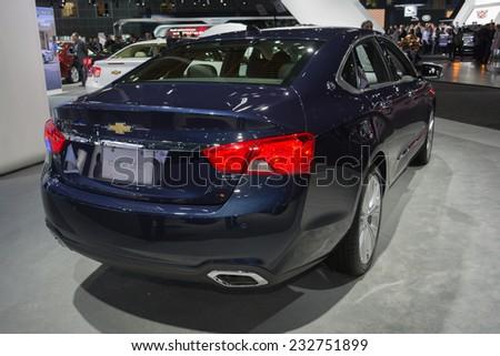 Los Angeles, CA - November 19, 2014: Chevrolet Impala LTZ 2015 on display on display at the LA Auto Show - stock photo