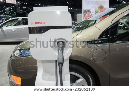 Los Angeles, CA - November 19, 2014: Chevrolet Volt car on display on display at the LA  Auto Show - stock photo