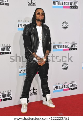 LOS ANGELES, CA - NOVEMBER 18, 2012: Chris Brown at the 40th Anniversary American Music Awards at the Nokia Theatre LA Live.