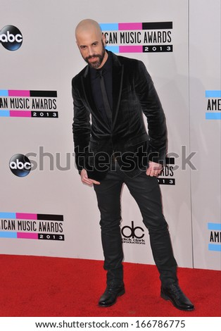 LOS ANGELES, CA - NOVEMBER 24, 2013: Chris Daughtry at the 2013 American Music Awards at the Nokia Theatre, LA Live.