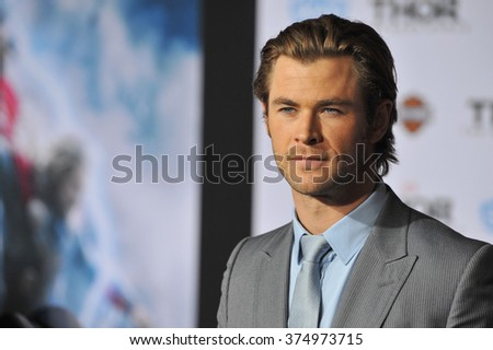 "LOS ANGELES, CA - NOVEMBER 4, 2013: Chris Hemsworth at the US premiere of his movie ""Thor: The Dark World"" at the El Capitan Theatre, Hollywood. Picture: Paul Smith / Featureflash"