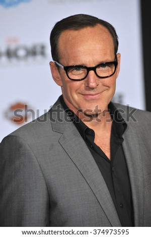 "LOS ANGELES, CA - NOVEMBER 4, 2013: Clark Gregg at the US premiere of ""Thor: The Dark World"" at the El Capitan Theatre, Hollywood. Picture: Paul Smith / Featureflash"
