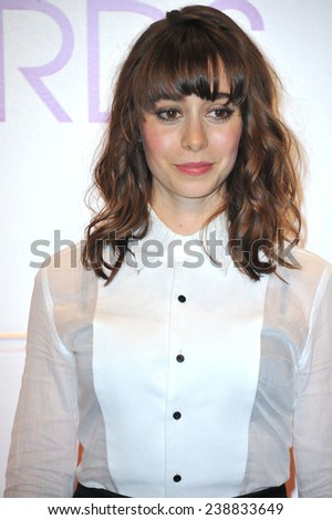LOS ANGELES, CA - NOVEMBER 4, 2014: Cristin Milioti at the nominations announcement for the 2015 People's Choice Awards at the Paley Center for Media, Beverly Hils.  - stock photo