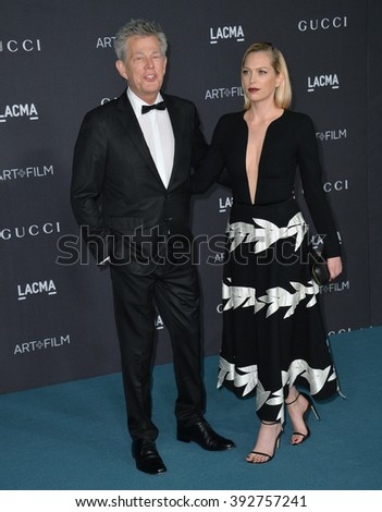 LOS ANGELES, CA - NOVEMBER 7, 2015: David Foster & actress daughter Erin Foster at the 2015 LACMA Art+Film Gala at the Los Angeles County Museum of Art