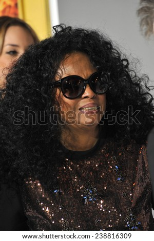 "LOS ANGELES, CA - NOVEMBER 17, 2014: Diana Ross at the Los Angeles premiere of ""The Hunger Games: Mockingjay Part One"" at the Nokia Theatre LA Live.  - stock photo"