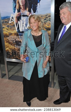 """LOS ANGELES, CA - NOVEMBER 19, 2014: Diane Ladd & husband Robert Hunter at the Los Angeles premiere of """"Wild"""" at the Samuel Goldwyn Theatre, Beverly Hills.  - stock photo"""