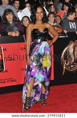 "LOS ANGELES, CA - NOVEMBER 18, 2013: Garcelle Beauvais at the US premiere of ""The Hunger Games: Catching Fire"" at the Nokia Theatre LA Live. Picture: Paul Smith / Featureflash"