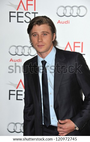 "LOS ANGELES, CA - NOVEMBER 3, 2012: Garrett Hedlund at the AFI Fest premiere of his movie ""On The Road"" at Grauman's Chinese Theatre, Hollywood."