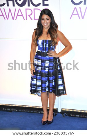 LOS ANGELES, CA - NOVEMBER 4, 2014: Gina Rodriguez at the nominations announcement for the 2015 People's Choice Awards at the Paley Center for Media, Beverly Hils.  - stock photo