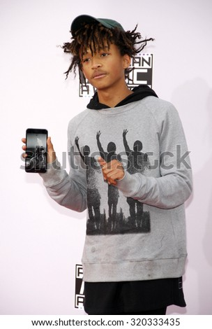 LOS ANGELES, CA - NOVEMBER 23, 2014: Jaden Smith at the 2014 American Music Awards held at the Nokia Theatre L.A. Live in Los Angeles on November 23, 2014. - stock photo