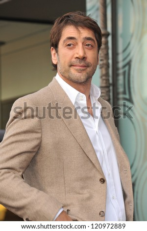 LOS ANGELES, CA - NOVEMBER 8, 2012: Javier Bardem on Hollywood Boulevard where he was honored with the 2,484th star on the Hollywood Walk of Fame.