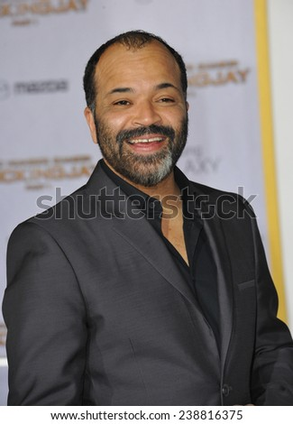 """LOS ANGELES, CA - NOVEMBER 17, 2014: Jeffrey Wright at the Los Angeles premiere of his movie """"The Hunger Games: Mockingjay Part One"""" at the Nokia Theatre LA Live.  - stock photo"""