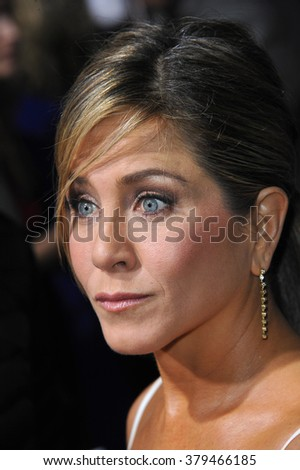 "LOS ANGELES, CA - NOVEMBER 20, 2014: Jennifer Aniston at the Los Angeles premiere of her movie ""Horrible Bosses 2"" at the TCL Chinese Theatre, Hollywood. - stock photo"