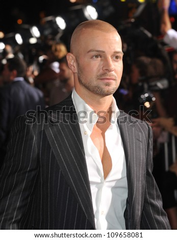 "LOS ANGELES, CA - NOVEMBER 9, 2009: Joey Lawrence at the world premiere of Walt Disney's ""Old Dogs"" at the El Capitan Theatre, Hollywood. - stock photo"