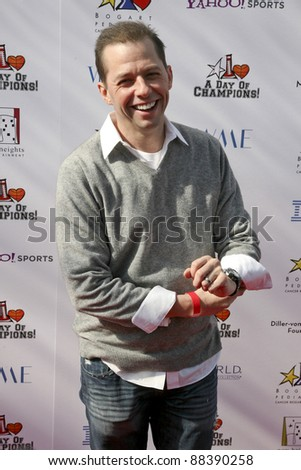 LOS ANGELES, CA - NOVEMBER 06: Jon Cryer arrives at A Day Of Champions Benefiting the Bogart Pediatric Cancer Research Program at Sports Museum of Los Angeles on November 6, 2011. - stock photo