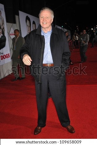 """LOS ANGELES, CA - NOVEMBER 9, 2009: Jon Voight at the world premiere of Walt Disney's """"Old Dogs"""" at the El Capitan Theatre, Hollywood. - stock photo"""