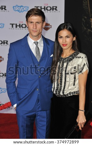 "LOS ANGELES, CA - NOVEMBER 4, 2013: Jonathan Howard at the US premiere of his movie ""Thor: The Dark World"" at the El Capitan Theatre, Hollywood. Picture: Paul Smith / Featureflash - stock photo"
