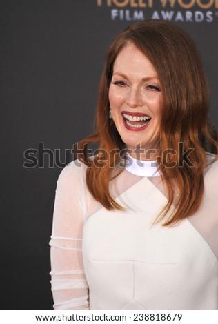 LOS ANGELES, CA - NOVEMBER 14, 2014: Julianne Moore at the 2014 Hollywood Film Awards at the Hollywood Palladium.  - stock photo