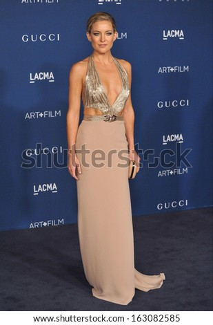 LOS ANGELES, CA - NOVEMBER 2, 2013: Kate Hudson at the 2013 LACMA Art+Film Gala at the Los Angeles County Museum of Art.  - stock photo