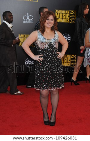 LOS ANGELES, CA - NOVEMBER 22, 2009: Kelly Clarkson at the 2009 American Music Awards at the Nokia Theatre L.A. Live.
