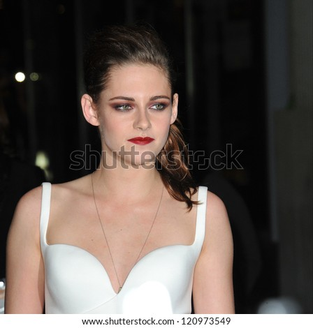 "LOS ANGELES, CA - NOVEMBER 3, 2012: Kristen Stewart at the AFI Fest premiere of her movie ""On The Road"" at Grauman's Chinese Theatre, Hollywood. - stock photo"
