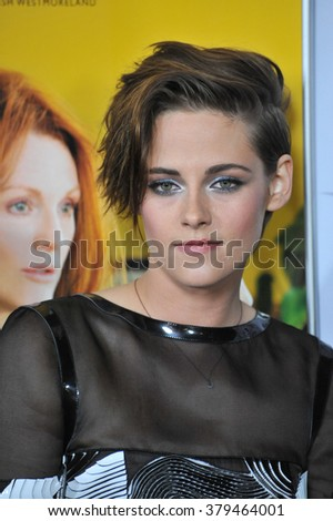 """LOS ANGELES, CA - NOVEMBER 12, 2014: Kristen Stewart at the premiere of her movie """"Still Alice"""" at the Dolby Theatre. - stock photo"""