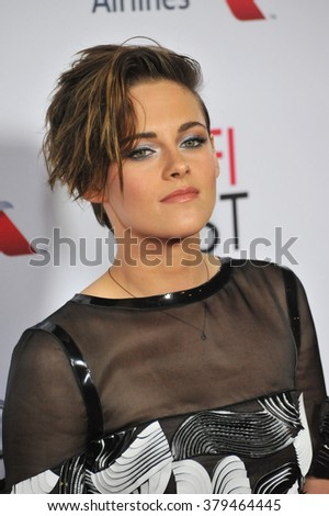 "LOS ANGELES, CA - NOVEMBER 12, 2014: Kristen Stewart at the premiere of her movie ""Still Alice"" at the Dolby Theatre. - stock photo"