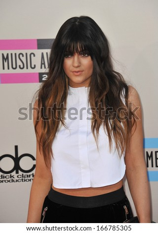 LOS ANGELES, CA - NOVEMBER 24, 2013: Kylie Jenner at the 2013 American Music Awards at the Nokia Theatre, LA Live.  - stock photo