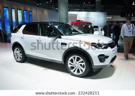Los Angeles, CA - November 19, 2014: Land Rover Discovery 2015 on display on display at the LA Auto Show