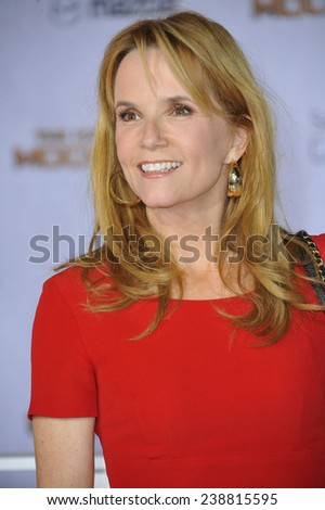 "LOS ANGELES, CA - NOVEMBER 17, 2014: Lea Thompson at the Los Angeles premiere of ""The Hunger Games: Mockingjay Part One"" at the Nokia Theatre LA Live.  - stock photo"