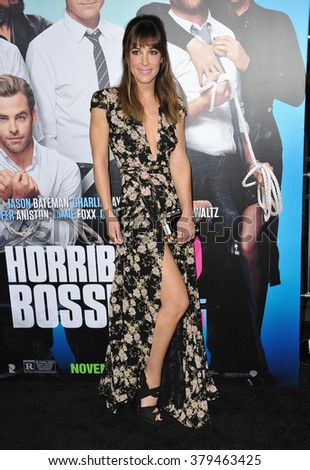 "LOS ANGELES, CA - NOVEMBER 20, 2014: Lindsay Sloane at the Los Angeles premiere of her movie ""Horrible Bosses 2"" at the TCL Chinese Theatre, Hollywood."