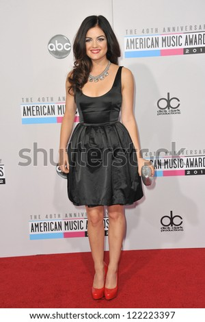 LOS ANGELES, CA - NOVEMBER 18, 2012: Lucy Hale at the 40th Anniversary American Music Awards at the Nokia Theatre LA Live.
