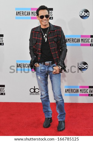 LOS ANGELES, CA - NOVEMBER 24, 2013: Marc Anthony at the 2013 American Music Awards at the Nokia Theatre, LA Live.  - stock photo