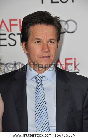 """LOS ANGELES, CA - NOVEMBER 12, 2013: Mark Wahlberg at the world premiere of his movie """"Lone Survivor"""", part of the AFI Fest 2013, at the TCL Chinese Theatre, Hollywood.  - stock photo"""