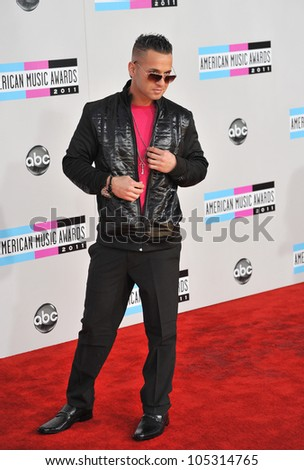LOS ANGELES, CA - NOVEMBER 20, 2011: Mike Sorrentino (The Situation) at the 2011 American Music Awards at the Nokia Theatre, L.A. Live in downtown Los Angeles. November 20, 2011  Los Angeles, CA