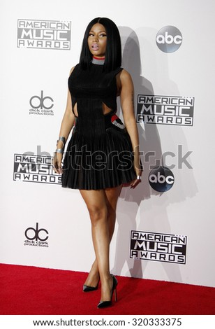 LOS ANGELES, CA - NOVEMBER 23, 2014: Nicki Minaj at the 2014 American Music Awards held at the Nokia Theatre L.A. Live in Los Angeles on November 23, 2014.
