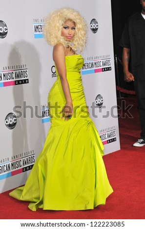 LOS ANGELES, CA - NOVEMBER 18, 2012: Nicki Minaj at the 40th Anniversary American Music Awards at the Nokia Theatre LA Live. - stock photo