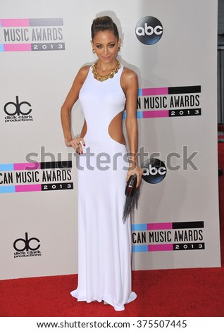 LOS ANGELES, CA - NOVEMBER 24, 2013: Nicole Ritchie at the 2013 American Music Awards at the Nokia Theatre, LA Live.