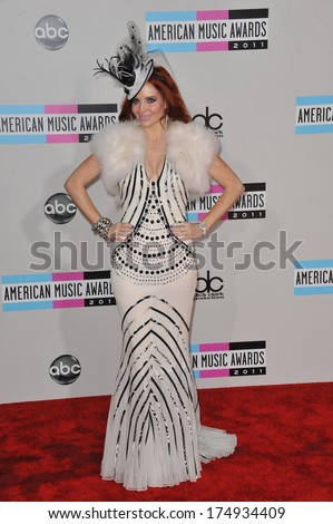 LOS ANGELES, CA - NOVEMBER 20, 2011: Phoebe Price arriving at the 2011 American Music Awards at the Nokia Theatre, L.A. Live in downtown Los Angeles.