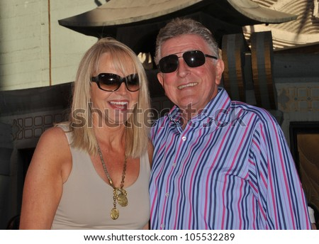 LOS ANGELES, CA - NOVEMBER 3, 2011: Richard & Claire Pattinson, parents of Robert Pattinson, at ceremony honoring the Twilight  stars at Grauman's Chinese Theatre. November 3, 2011  Los Angeles, CA - stock photo