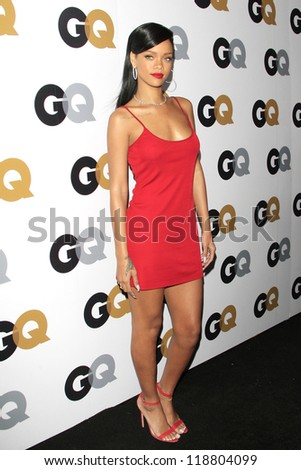 LOS ANGELES, CA - NOVEMBER 13: Rihanna arrives at the GQ Men Of The Year Party at Chateau Marmont Hotel on November 13, 2012 in Los Angeles, California - stock photo