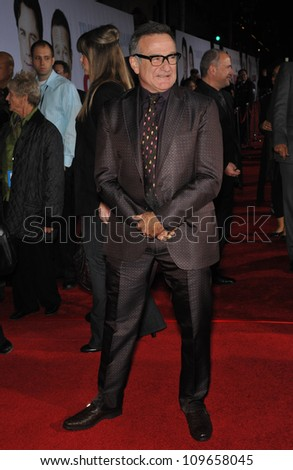 """LOS ANGELES, CA - NOVEMBER 9, 2009: Robin Williams at the world premiere of his new movie Walt Disney's """"Old Dogs"""" at the El Capitan Theatre, Hollywood. - stock photo"""