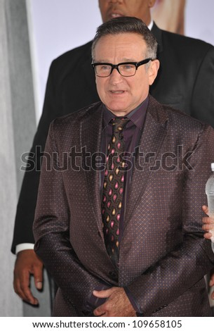 "LOS ANGELES, CA - NOVEMBER 9, 2009: Robin Williams at the world premiere of his new movie Walt Disney's ""Old Dogs"" at the El Capitan Theatre, Hollywood. - stock photo"