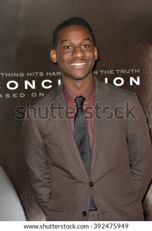"LOS ANGELES, CA - NOVEMBER 10, 2015: Singer/songwriter Leon Bridges at the premiere of ""Concussion"" at the TCL Chinese Theatre"