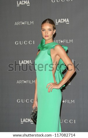 LOS ANGELES, CA - OCT 27: Rosie Huntington-Whiteley at the LACMA 2012 Art + Film Gala at LACMA on October 27, 2012 in Los Angeles, California