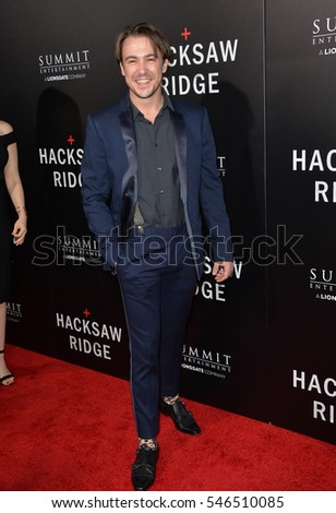 "LOS ANGELES, CA. October 24, 2016: Actor Ben O'Toole at the Los Angeles premiere of ""Hacksaw Ridge"" at The Academy's Samuel Goldwyn Theatre, Beverly Hills."