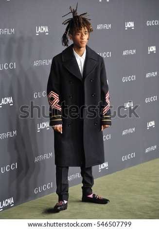LOS ANGELES, CA. October 29, 2016: Actor Jaden Smith at the 2016 LACMA Art+Film Gala at the Los Angeles County Museum of Art.