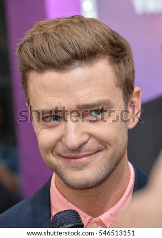 "LOS ANGELES, CA. October 23, 2016: Actor/singer Justin Timberlake at the Los Angeles premiere of ""Trolls"" at the Regency Village Theatre, Westwood."
