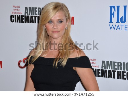 LOS ANGELES, CA - OCTOBER 30, 2015: Actress Reese Witherspoon at the American Cinematheque 2015 Award Show at the Century Plaza Hotel